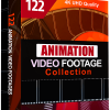 122 Animation Video Footages Box Cover
