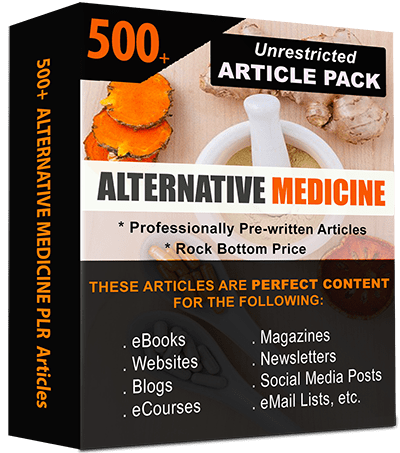 Alternative Medicinet Pre-written PLR Articles