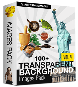 100 Royalty-Free with PLR & Resell Rights Stock Images with Transparent Background (Volume 4)