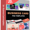 20 Business Card Templates Photoshop PSD Actions