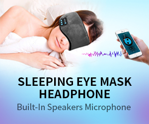 Sleeping Eyemask Headphone with Builtin Speaker Microphone